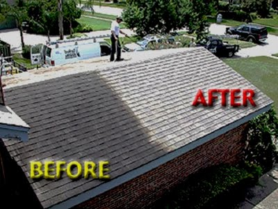 Roof Pressure Cleaning Before And After
