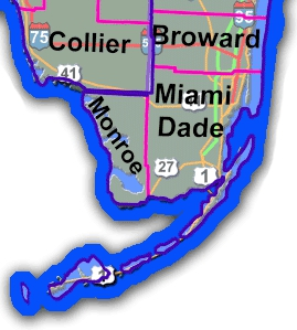 South Florida County Map Accordion Hurricane Shutters Impact