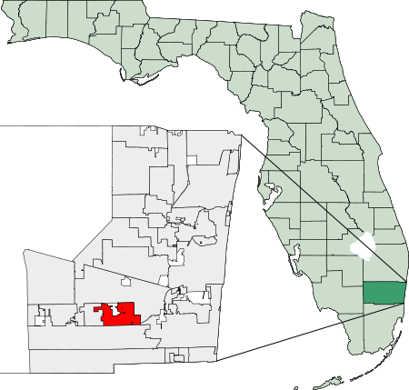 Cooper City Florida Map