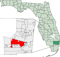 Davie Florida Map
