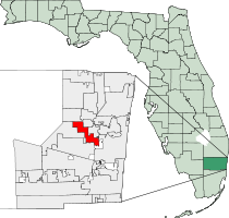 Lauderhill Florida Map
