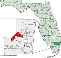 Sunrise Florida Map