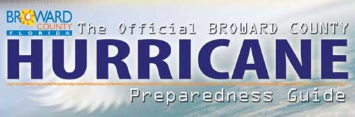 Official Broward County Hurricane Preparedness Guide Header