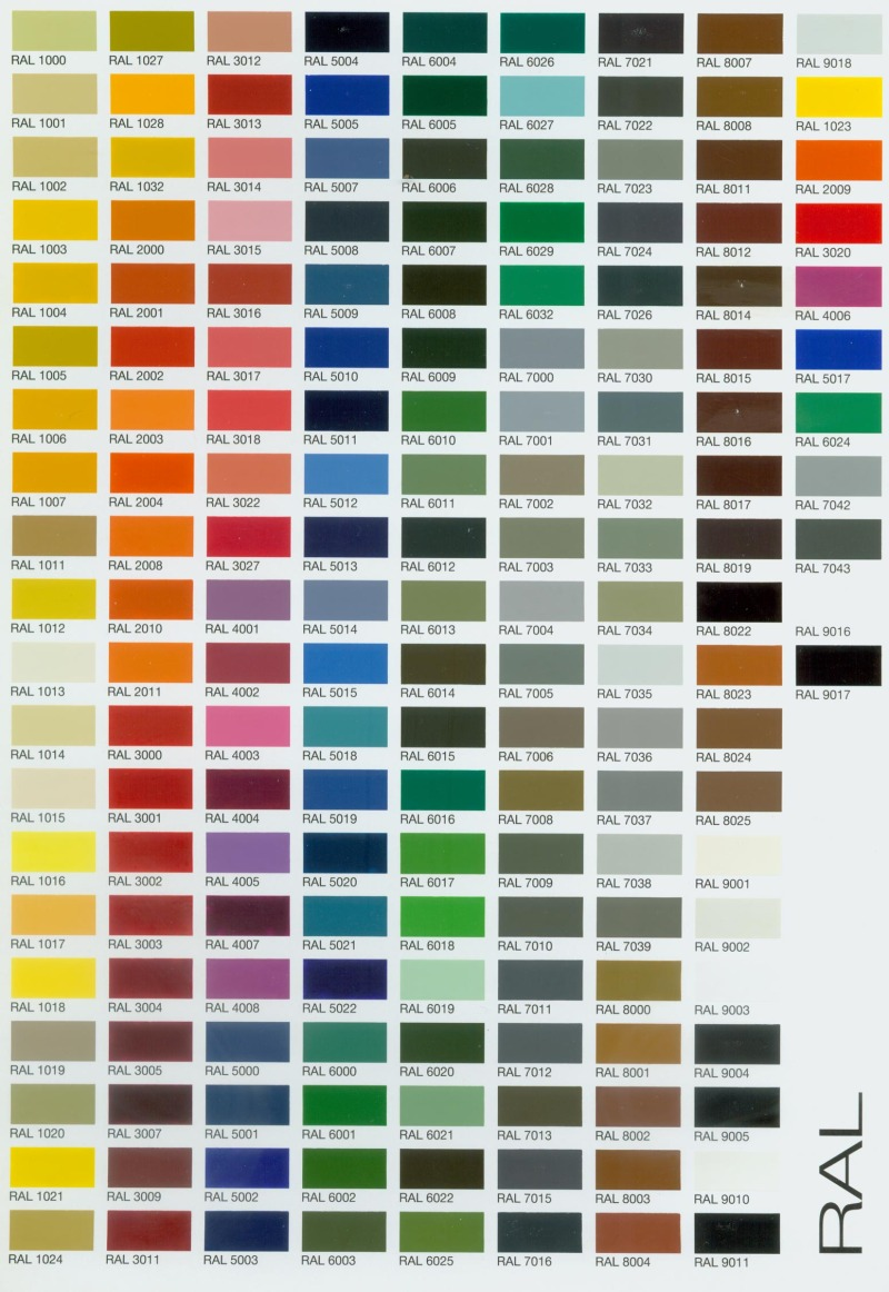 Ral Color Chart Accordion Hurricane Shutters Impact Windows And Doors