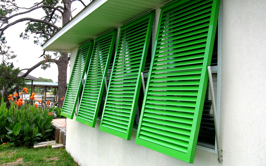 Key West Colonial & Bahama Aluminum Hurricane Shutters, Exterior ...