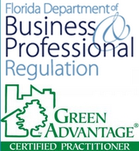 Florida Department of Business and Professional Regulation Logo, Green Advantage Certified Professional